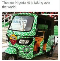 🇳🇬 Nigeria's new home kit by Nike is so lit that AS Roma wrapped their carts with it. 🔥: The new Nigeria kit is taking over  the world  ROMA  1927  BALLA  945 🇳🇬 Nigeria's new home kit by Nike is so lit that AS Roma wrapped their carts with it. 🔥