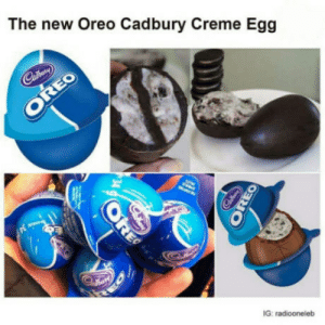 Love, What Is, and What Is Love: The new Oreo Cadbury Creme Egg  EO  G: radiooneleb What is love?