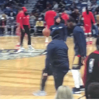 The new projected leader for NBA MVP is this Pelicans fan, who snuck on to the court for pregame warmups pretending to be a player and actually got a shot up before being removed by police https://t.co/1cr7B4fJsw: The new projected leader for NBA MVP is this Pelicans fan, who snuck on to the court for pregame warmups pretending to be a player and actually got a shot up before being removed by police https://t.co/1cr7B4fJsw