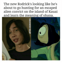 From @the.geekguide - notmyrodrick 😂: The new Rodrick's looking like he's  about to go hunting for an escaped  alien convict on the island of Kauai  and learn the meaning of ohana. From @the.geekguide - notmyrodrick 😂