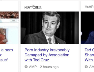 Hugh Hefner, Target, and Ted: THE  NEW YORKER  HuffP  Porn Industry Irrevocably  Damaged by Association  with Ted Cruz  Ted C  Shar  With  AM  a porn  sue  6 AMP - 2 hours ago ghoulgrooves: lesbianswamphag:  tinylamp: pack it up boys, porn is cancelled  ted cruz killed hugh hefner  the zodiac killer's final victim