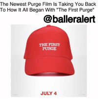 "America, Community, and Crime: The Newest Purge Film Is Taking You Back  To How lt All Began With ""The First Purge""  @balleralert  THE FIRST  PURGE  JULY 4 The Newest Purge Film Is Taking You Back To How It All Began With ""The First Purge""- Blogged by: @RaquelHarrisTV ⠀⠀⠀⠀⠀⠀⠀⠀⠀ ⠀⠀⠀⠀⠀⠀⠀⠀⠀ For all you horror film fans, specifically of the ThePurge franchise, get ready because its fourth project is coming soon and it's taking you back to the beginning. ⠀⠀⠀⠀⠀⠀⠀⠀⠀ ⠀⠀⠀⠀⠀⠀⠀⠀⠀ The newest ""Purge"" film will be a prequel and will tell the story of the ""first Purge night,"" announced Universal-Comcast Corp. The film will be titled, ""The First Purge"" and will still be produced by Blumhouse and Platinum Dunes. Writer-director James DeMonaco, the original writer of the series, will be coming back and will work alongside Gerard McMurray, who will be directing. 'The First Purge' will follow the same release date as its predecessor, 'The Purge: Election Year', and will debut the weekend of 4th of July. ⠀⠀⠀⠀⠀⠀⠀⠀⠀ ⠀⠀⠀⠀⠀⠀⠀⠀⠀ If you've never seen any of the films, you might think it's just like any other horror film. However, unlike any other scary movie 'The Purge' has continuously taken steps to highlight the injustices and greed of America, tackling issues like homelessness, racism and institutional and political oppression. ⠀⠀⠀⠀⠀⠀⠀⠀⠀ ⠀⠀⠀⠀⠀⠀⠀⠀⠀ Here is the synopsis of 'The First Purge': ""To push the crime rate below one percent for the rest of the year, the New Founding Fathers of America (NFFA) test a sociological theory that vents aggression for one night in one isolated community. But when the violence of oppressors meets the rage of the marginalized, the contagion will explode from the trial-city borders and spread across the nation."" ⠀⠀⠀⠀⠀⠀⠀⠀⠀ ⠀⠀⠀⠀⠀⠀⠀⠀⠀ This time the film's creators may just take a few jabs at Trump and his followers by the looks of their poster. Will you be watching?"