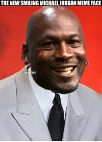 Michael Jordan after seeing his Hornets take a 3-2 lead in Miami. #NBAPlayoffs: THE NEWSMILING MICHAELJORDAN MEME FACE  MES Michael Jordan after seeing his Hornets take a 3-2 lead in Miami. #NBAPlayoffs