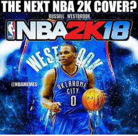 Russell Westbrook as the cover boy? #Thunder Nation: THE NEXT NBA 2K COVER?  RUSSELL WESTBROOK  NBA  ALLAHOMA  @NBAMEMES  CITY Russell Westbrook as the cover boy? #Thunder Nation
