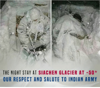 Dear INDIAN ARMY! We <3 you.: THE NIGHT STAY AT SIACHEN GLACIER AT 50*  OUR RESPECT AND SALUTE TO INDIAN ARMY Dear INDIAN ARMY! We <3 you.