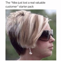 "The ""I wanna complain to the manager"" hairstyle 😂: The ""Nike just lost a real valuable  customer"" starter pack The ""I wanna complain to the manager"" hairstyle 😂"