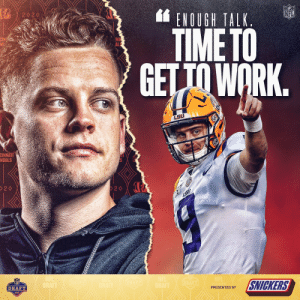 The No. 1 pick's ready. #NFLDraft  (by @SNICKERS) https://t.co/4ySWs6EyzN: The No. 1 pick's ready. #NFLDraft  (by @SNICKERS) https://t.co/4ySWs6EyzN
