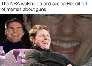 National rifle association: The NRA waking up and seeing Reddit full  of memes about guns National rifle association