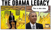 THE OBAMA LEGACY  This is okie doke.  MM ~ Hollie