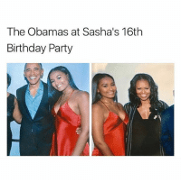 clean asf: The Obamas at Sasha's 16th  Birthday Party clean asf