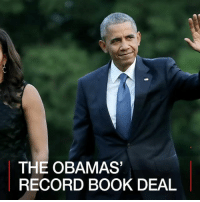 Memes, Barack Obama, and 🤖: THE OBAMAS  RECORD BOOK DEAL 1 MAR: Former US President Barack Obama and his wife Michelle have sold the rights to their next books for a record-setting $60 million. Find out more: bbc.in-theobamas Barackobama Michelleobama Obamas Obamafamily Presidentobama PenguinRandomHouse Bookdeal Memoirs Books BBCShorts BBCNews @BBCNews