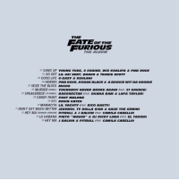 """The Fate of The Furious 👀🔥 https://t.co/9vI1n8ttdX: THE  OF THE  FURIOUS  01 GANG UP yoUNG THUG, 2 CHAINZ, wiz KHALIFA & PNB RocK  02  GO OFF LIL UZI VERT OUAvo & TRAVIS scOTT  03 GOOD LIFE G-EAzy & KEHLANI  04 HORSES PNB ROCK, KODAK BLACK & A BooGIE WITDA HooDIE  05 SEIZE THE BLOCK MIGos  06 MURDER (REMIX)  YOUNGBOy NEVER BROKE AGAIN (FEAT 21 SAVAGE)  07 SPEAKER BOX (F8 REMIX)  BASSNECTAR (FEAT  OHANA BAM & LAFA TAYLOR)  08 CANDY PAINT PoST MALONE  09 911 KEVIN GATES  10  MAMACITA LIL VACHTy (FEAT. RICO NASTY)  11  DON'T GET MUCH BETTER JEREMIH, DOLLA SIGN & SAGE THE GEMINI  12 HEY MA ISPANISH VERSIONI PITBULL & J BALVIN (FEAT CAMILA CABELLO)  13  LA HABANA PINTO """"WAHIN"""" & DJ RICKy LUNA (FEAT EL TAIGER)  14 HEY MA J BALVIN & PITBULL (FEAT CAMILA CABELLO) The Fate of The Furious 👀🔥 https://t.co/9vI1n8ttdX"""