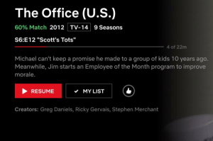 """Community, Confidence, and Stephen: The Office (U.S.)  60% Match 2012  TV-14  9 Seasons  S6:E12 """"Scott's Tots""""  4 of 22m  Michael can't keep a promise he made to a group of kids 10 years ago.  Meanwhile, Jim starts an Employee of the Month program to improve  morale  RESUME  MY LIST  Creators: Greg Daniels, Ricky Gervais, Stephen Merchant I really appreciate the support I've received from this community. As hard as this has been, I have the confidence in myself that I can finish anything I put my mind to!"""