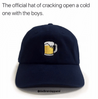 Fire, Memes, and Link: The official hat of cracking open a cold  one with the boys.  @dadbrandapparel If yall think these hats are fire, use my promo code VICO15 for 15% off 😏😏😏😏😏😏😏 , link in @dadbrandapparel 's bio 💦