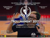 SGAG TROLLNAMENT IS BACK!! Form a team of 7-10 with your friends, and sign up FOR FREE through the link in our bio 😁 We have AMAZING goodie bags, and you'll even get to meet all of our cast members in person!!! So hurry up and register before 1st August, see u guys there 😎 kthxbye: THE OFFICIAL SGAG CAPTAIN'S BALL TOURNAMENT  6 AUGUST THE PADANG 8AM-1PM  AL SGAG CAPTAIN'S BALL TOURNAMENT  All these games & you  choose to play me  Bobby  Olimpeks  Have a trollin' good time  TROLLNAMENT 2017  1st Prize: x10 Scoot Airline Vouchers  2nd Prize: x10 Garmin Forerunner Watch  3rd Prize: x10 Garmin Vivosmart Watch  Registration: FREE  Requirements: Team of 7-10  Age Criteria: 18 and abo  in supportof: GETACTIVE!  SINGAPORE  Main  sponsor  Co-sponsors  GARMIN SGAG TROLLNAMENT IS BACK!! Form a team of 7-10 with your friends, and sign up FOR FREE through the link in our bio 😁 We have AMAZING goodie bags, and you'll even get to meet all of our cast members in person!!! So hurry up and register before 1st August, see u guys there 😎 kthxbye