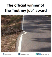 not my job award
