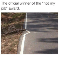 """Memes, 🤖, and Job: The official winner of the """"not my  job"""" award Job """"done"""" 😂 credit: @gymspotter"""