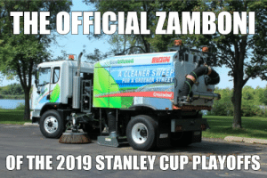 National Hockey League (NHL), Stanley Cup, and Stanley: THE OFFICIAL ZAMBON  EIGIN  OF THE 2019 STANLEY CUP PLAYOFFS The Official Zamboni of the 2019 Playoffs