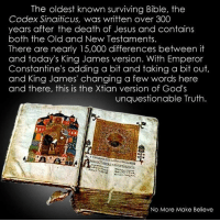 The Oldest Known Surviving Bible the Codex Sinaiticus Was