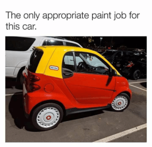 Cute, Funny, and Lmao: The only appropriate paint job for  this car.  te tes How nostalgic #lol #funny #rofl #memes #lmao #hilarious #cute