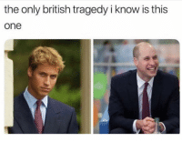 Girl Memes, British, and Controversial: the only british tragedy i know is this  one I am about to say something controversial. WILL > HARRY. (@themorningtoast)