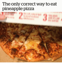 The Only Correct Way To Eat Pineapple Pizza: The only correct way to eat  pineapple pizza The Only Correct Way To Eat Pineapple Pizza
