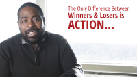 """A Dream, Click, and College: The Only Difference Between  Winners & Losers is  ACTION. The Only Difference Between Winners & Losers is ACTION  When we look at people who are in positions of influence, or who have a lot of money, it's natural to believe that they've got something we haven't got. It's a kind of hero worship. We put them on a pedestal. We think these people must have some sort of talent we don't possess.   Maybe they have more education, or a better start in life. In my experience, this is usually NOT the case! In fact, I'd say that most of the time, the difference between those who are making it and those who are struggling is simply that the winners took action, while the strugglers sat on the sidelines.   They were defeated before they even got started!    Losers are the ones who:  - Think about doing something - Worry about failing and looking stupid - List all the reasons why they can't…  …while winners just shut up and do it. Then everyone looks up at them and thinks they're """"special""""!   I used to feel this way when I was younger, I even acted like a loser. I certainly had plenty of reasons:  - Born dirt poor - Diagnosed as """"educable mentally retarded"""" as a child - My teachers and my family didn't believe in me at all   So when I had this dream of being a motivational speaker and impacting millions of people, taking action seemed ridiculous. After all:   …How could someone like me possibly succeed?  …Who would even listen to me?  …How could I inspire anyone, with no college education and no authority?   But my passion was too strong for me to stay on the sidelines. Despite my fears, I found some places that would let me speak for free, or in return for a meal. And that's when I made an incredible discovery:  Actually DOING the thing I wanted to do is also what GAVE me the authority.   No one cared that I never went to college, or that my family thought the best I could do was a job in the Post Office. I was on stage, and these people were listeni"""