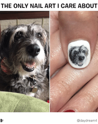 Dogs, Goals, and Memes: THE ONLY NAIL ART I CARE ABOUT  B-  @daydream4 GOALS: To pets my dog's face with her own face like @daydream4 💅 dog nailart flossyAF pets terrier goals extra