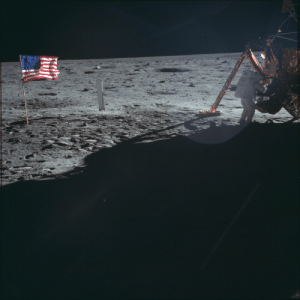 Neil Armstrong, Buzz Aldrin, and Apollo: The only photo of Apollo 11 Astronaut Neil Armstrong working on the surface of the Moon on this day 50 years ago - the rest were of Buzz Aldrin photographed by Neil