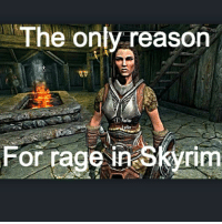 Memes, Skyrim, and 🤖: The only reason  arler  rage Skyrir  For I hate you Lydia🔪💁 skyrim