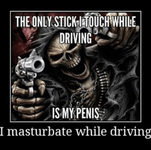 meirl: THE ONLY STICKTOUCH WHILE  DRIVING  ISMYPENIS  I masturbate while driving meirl