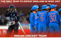 England, Memes, and Cricket: THE ONLY TEAM TO DEFEAT ENGLAND IN WWC 2017  DEEPTI ONA  OL  M MONA  ND  INDIAN CRICKET TEAM Can Indian team repeat this again in today's big match?