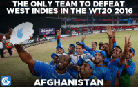 Remember this moment when Chris Gayle posed for a selfie with the victorious Afghanistan team?: THE ONLY TEAM TO DEFEAT  WEST INDIES IN THE WT2O 2016  Get Involved  ram  AFGHANISTAN Remember this moment when Chris Gayle posed for a selfie with the victorious Afghanistan team?