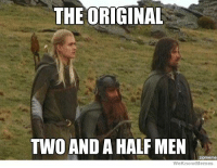 Two and a Half Men: THE ORIGINA  TWO AND A HALF MEN  WeKnow Memes Two and a Half Men
