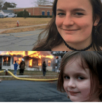 The original Disaster Girl took another picture 10 years later: The original Disaster Girl took another picture 10 years later