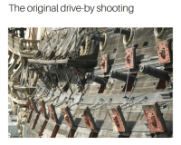 The original drive-by shooting Pew pew