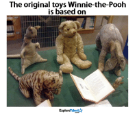 Right in the feels 😔💔: The original toys Winnie-the-Pooh  is based on  Talent  Explore Right in the feels 😔💔
