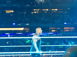 The other perk of working on this movie was seeing @TheRock live at Wrestlemania in Texas with @TomMacDougall #TheWonderfulWorldOfDisney https://t.co/1RDG0zjtUi: The other perk of working on this movie was seeing @TheRock live at Wrestlemania in Texas with @TomMacDougall #TheWonderfulWorldOfDisney https://t.co/1RDG0zjtUi