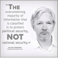 """Facebook, Memes, and News: THE  overwhelming  majority of  information that  is classified  is to protect  political security,  NOT  national security.""""  JULIAN ASSANGE  THEFREETHOUGHTPROJECT COM 💭 So important you understand this! 💭🤔🤔🤔💭 Join Us: @TheFreeThoughtProject 💭 TheFreeThoughtProject 💭 LIKE our Facebook page & Visit our website for more News and Information. Link in Bio... 💭 www.TheFreeThoughtProject.com"""