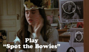 """David Bowie, Meme, and Kiss: THE OVSTAGE KISS  ORS NOTTROOK  Play  """"Spot the Bowies"""" David Bowie Labyrinth Meme t"""