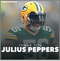 Memes, Packers, and Best Of: THE PACKER PAGE  T H A N K Y O U  JULIUS PEPPERS Julius Peppers is headed back to the Panthers. Thank you for everything, Julius, and best of luck in the future! Packers NFL GoPackGo GreenBay @juliuspeppers_