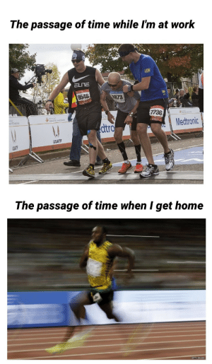 Meirl: The passage of time while I'm at work  ELITE  9548  1973  7736  Medtronic  dtro  USATF  The passage of time when I get home Meirl