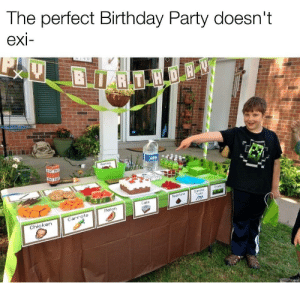 This has a Minecraft Birthday (Original by johnny_JD): The perfect Birthday Party doesn't  exi-  BRT H DE  TNT TNE  Aeples  Grans  Danond  Tools  hedsfone  Cake  Melon  Carrots  Chicken This has a Minecraft Birthday (Original by johnny_JD)