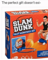 SOMEONE BUY ME THIS NOW Tag a friend who would use this 👇🏻: The perfect gift doesn't exi  SLAM  DUNK  TOILET BASKETBALL SET  SLAM  DUNK  BASKET ALL  15  BALL HOLDER CF SOMEONE BUY ME THIS NOW Tag a friend who would use this 👇🏻