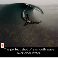 Memes, Smooth, and Waves: The perfect shot of a Smooth Wave  over clear water.