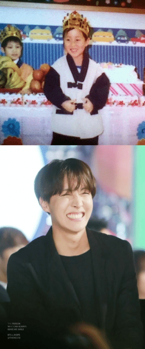 Growing Up, Smile, and Bts: THE PERSON  WHO CAN ALWAYS  MAKE ME SMILE  BTS x JHOPE  @THEHO218 STOP GROWING UP HOBI😭