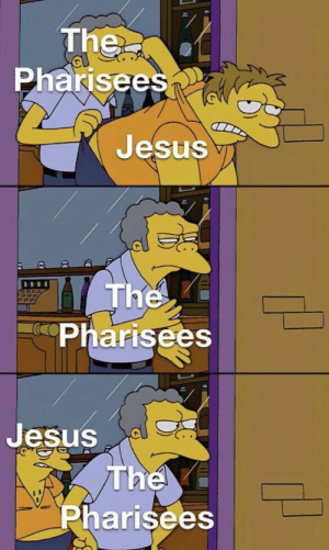 The Death and Resurrection of Jesus Christ, 30 A.D. (colorized): The  Pharisees  Jesus  The  Pharisees  Jesus  The  Pharisees The Death and Resurrection of Jesus Christ, 30 A.D. (colorized)