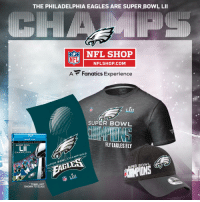 "Philadelphia Eagles, Memes, and Nfl: THE PHILADELPHIA EAGLES ARE SUPER BOWL LII  NFL SHOP  NFL  NFLSHOP.COM  A Fanatics Experience  LIII  SUPER BOWL  ""V  DLU RAY DVD  FLY EAGLES FY  SUPER BOWL  CHAMPIONS  PER BOWL CHAMPIONS  SUPER BOWL  TOWEL NOT  SHOWN TO SCALE The @Eagles just won the @SuperBowl!  Pick up your Championship Gear from @OfficialNFLShop... with FREE SHIPPING: https://t.co/9ZFxzTvW3v #SBLII https://t.co/PJ2h1RTkNl"