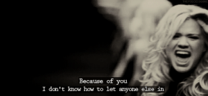 https://iglovequotes.net/: THE PIECEISGONE  Because of you  I don't know how to let anyone else in https://iglovequotes.net/