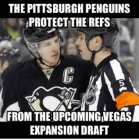 Logic, Memes, and Penguins: THE PITTSBURGH PENGUINS  PROTECT THE REFS  l ref  logic  FROM THE UPCOMING MEGAS  EXPANSION DRAFT Power move by the Penguins Franchise and one we expected